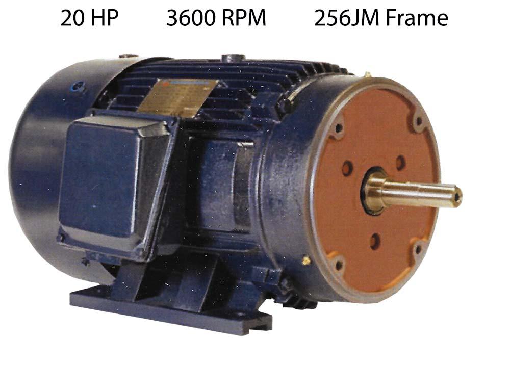 20 Hp 3600 Rpm Pump Motor Pe256jm 2