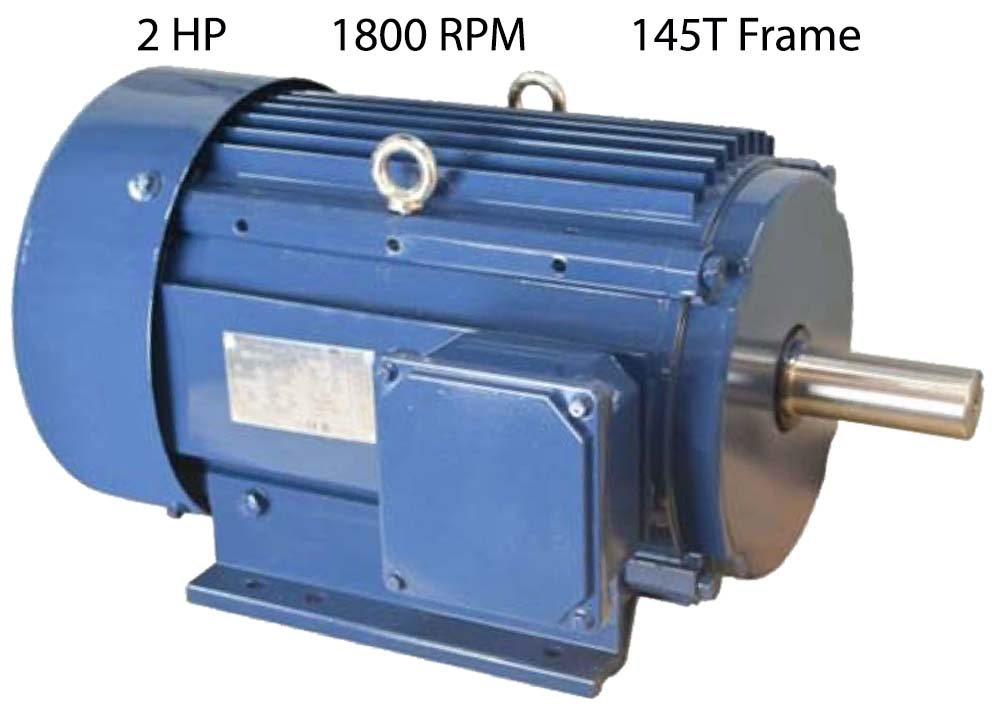 2 HP 1800 RPM Aluminum Motor APE145T-2-4 | Webco Machine