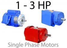 1 - 3 HP Single Phase Motors