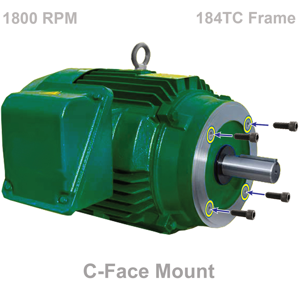 5 0 Hp 1800 Rpm Motor 184tc Tefc C Face Webco Machine