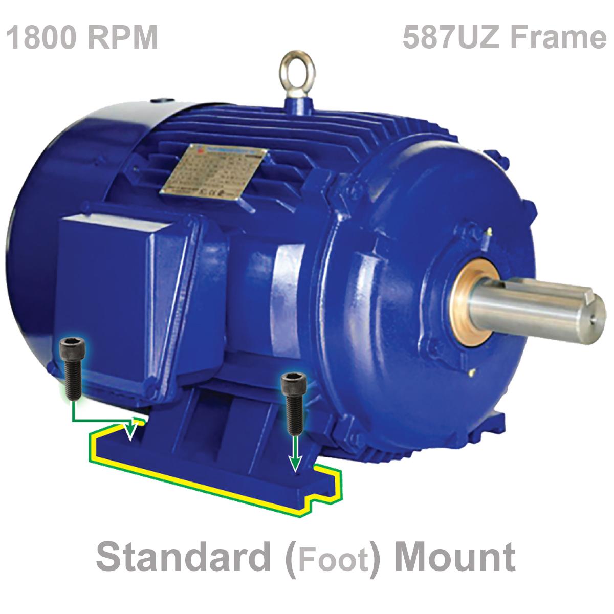 500 Hp 1800 Rpm Motor 587uz Tefc Free Shipping Webco